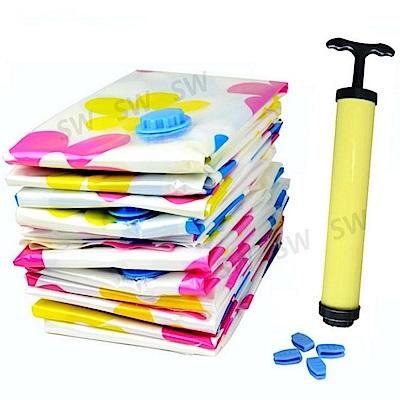 BC008市場最厚產品真空收納袋9件組送抽氣泵大花朵0.12mm真空壓縮袋收納袋壓縮袋衣物