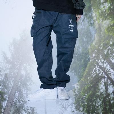 LAKING.LAB-造型多口袋工作寬鬆限定長褲
