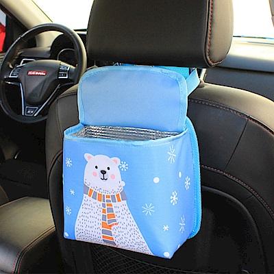 車用椅背置物袋卡通汽車雜物袋保溫袋