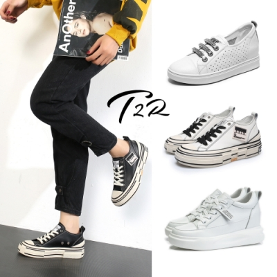時時樂限定-T2R-正韓空運-全真皮隱形增高鞋-增高6-7公分-多款