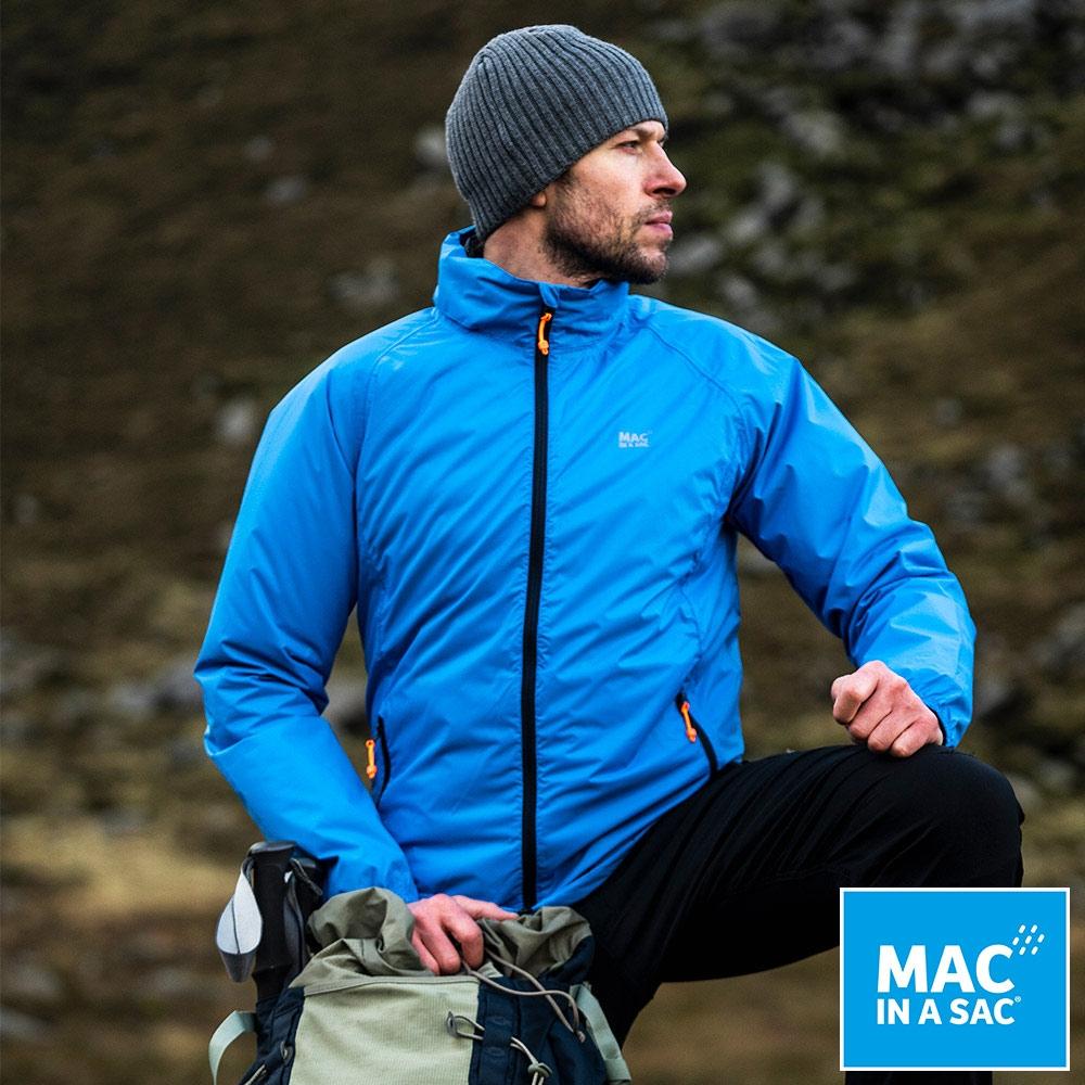 【MAC IN A SAC】男女款輕巧袋著走防水抗風透氣輕量外套MNS089海洋藍
