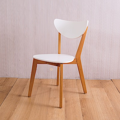 AS-安娜全實木餐椅-柚木色-2入組-45X50X80cm