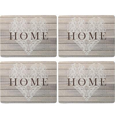CreativeTops Home木質餐墊4入(愛窩)