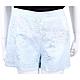ERMANNO SCERVINO 刺繡拼接蕾絲水藍棉麻短褲 product thumbnail 1