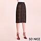SO NICE率性豹紋蕾絲拉鍊窄裙 product thumbnail 1