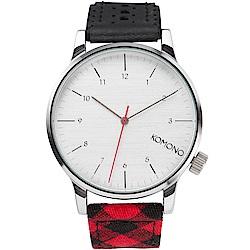 KOMONO Winston Galore 腕錶-法蘭絨混合錶帶/41mm
