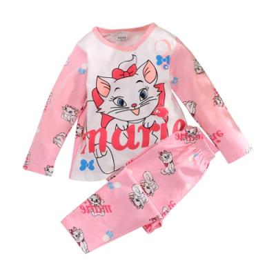 女童薄款彈性萊卡棉舒適套裝 k61001 魔法Baby