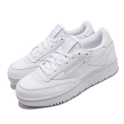 Reebok 休閒鞋 Club C Double 運動 女鞋 厚底 舒適 基本款 皮革 簡約 穿搭 白 FW8015