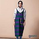 gozo 條紋配色針織細肩連身裙(二色)