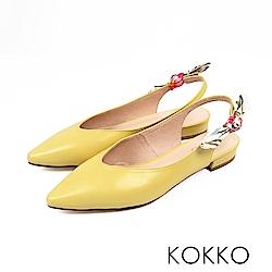 KOKKO - 觸及真心尖頭蝴蝶結真皮