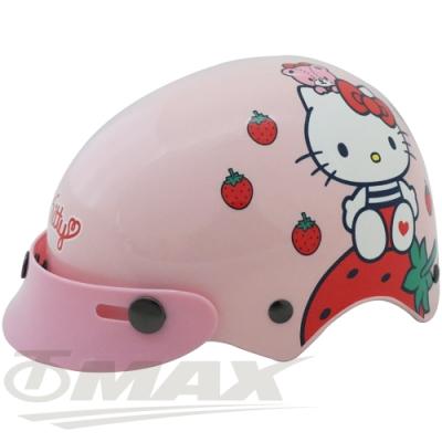 KITTY草莓兒童安全帽-粉紅色(贈短鏡片) -快