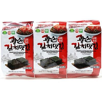 SAMWON 韓國泡菜風味海苔(4gx3入)