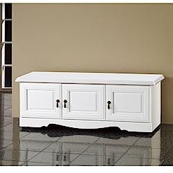 MUNA 烤白4尺坐鞋櫃 120X40.5X45cm