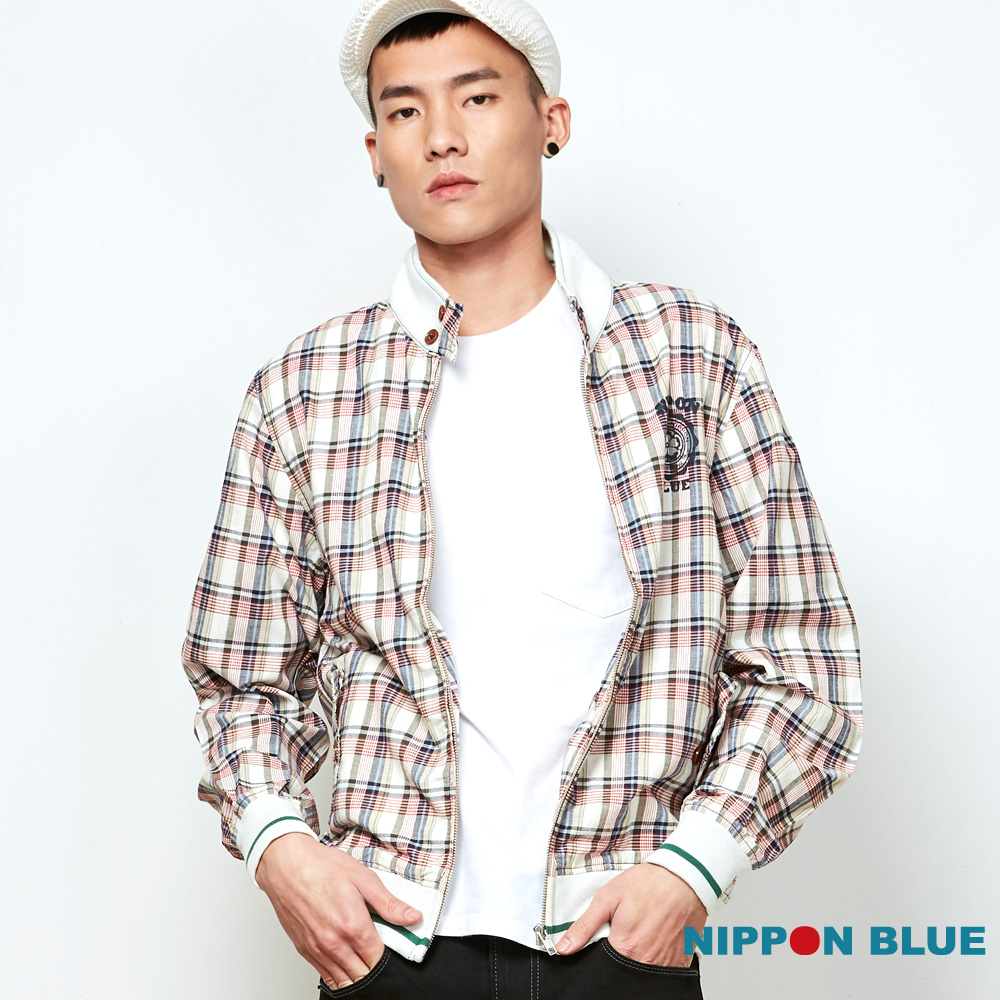 日本藍 BLUE WAY  經典格紋薄外套