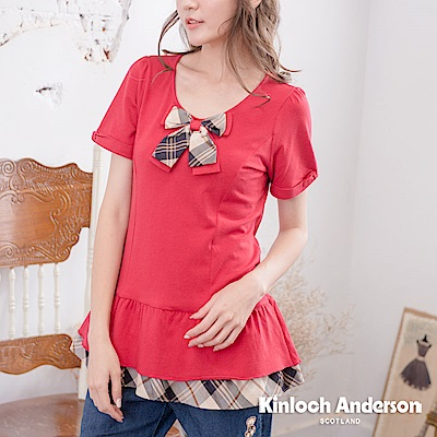 【Kinloch Anderson金安德森女裝】氣質圓領蝴蝶結上衣-2色