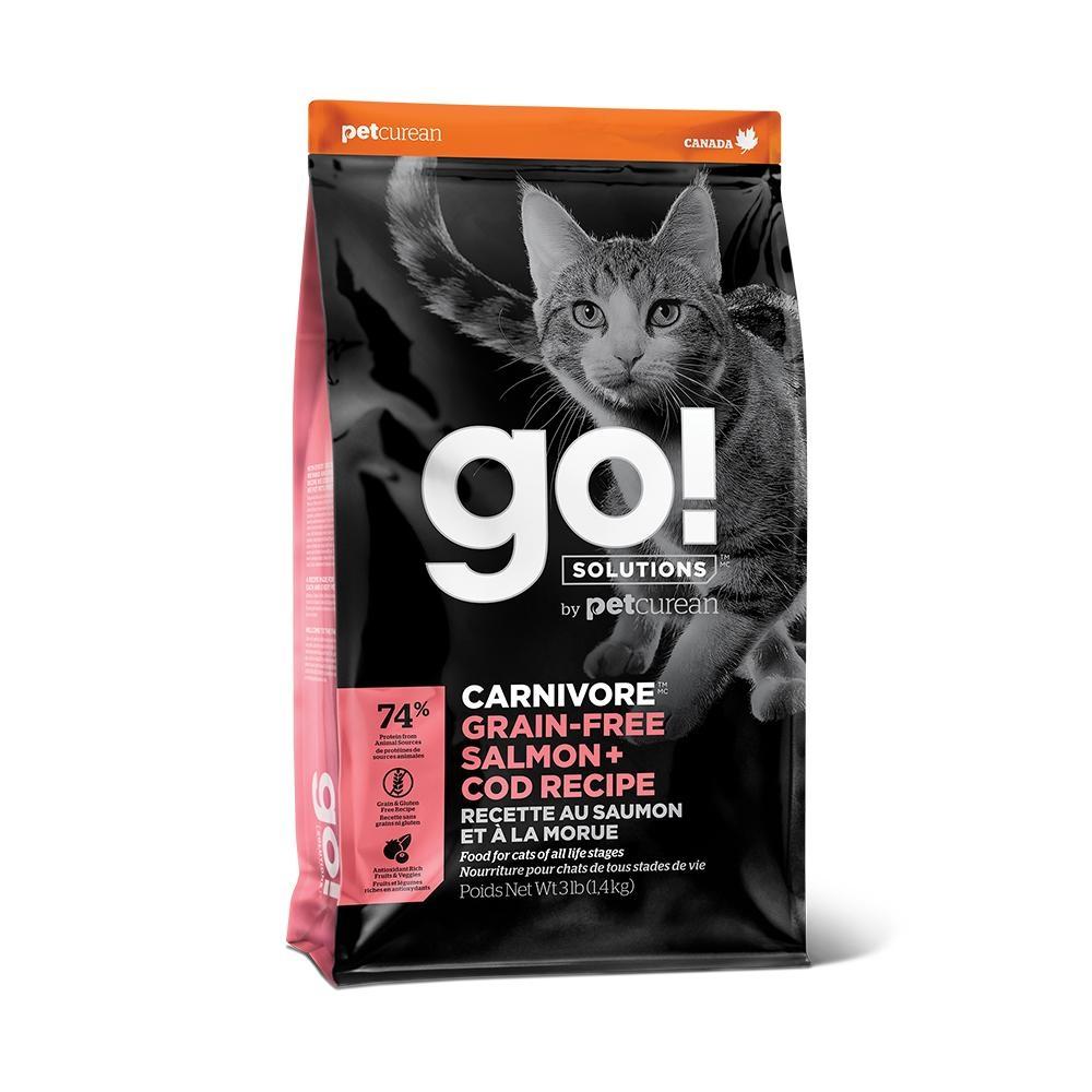 Go! 海洋鲑鱈 74% 高肉量 3磅 全貓 無穀天然糧