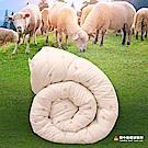 田中保暖試驗所 澳洲 防蹣抗菌 純羊毛被 特大8x7尺 100%羊毛成份 保暖恆溫舒適