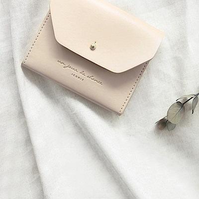ICONIC 職人風格皮革票卡夾零錢包M-印度粉紅
