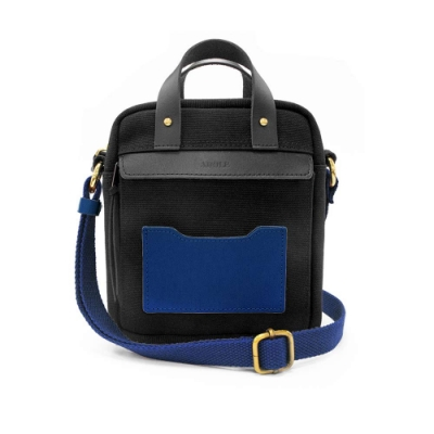 【IBAOBAO愛包包】ADOLE ADAY悠遊隨行小包/黑+藍
