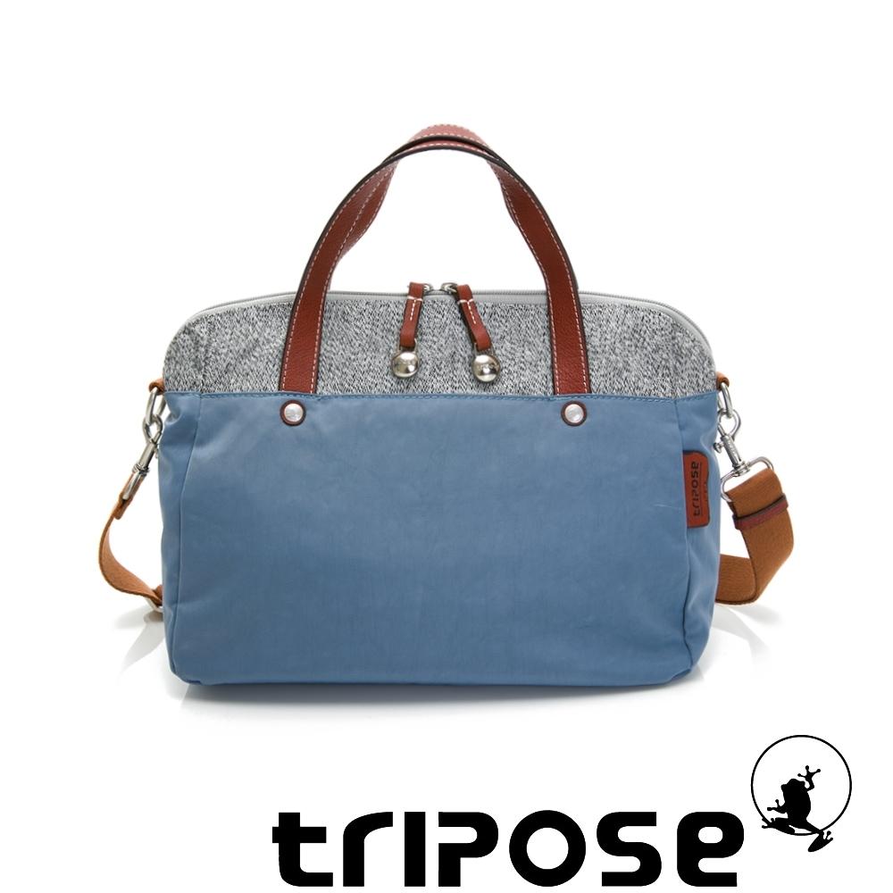 tripose 漫遊系列岩紋玩色兩用手提背包 天空藍
