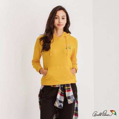 Arnold Palmer -女裝-胸前大傘連帽T恤-黃色