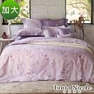 Tonia Nicole東妮寢飾 戀戀情深環保印染100%精梳棉兩用被床包組(加大)