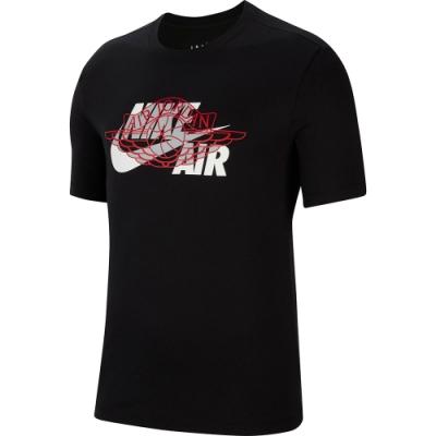 NIKE POLO衫 休閒 運動 短袖上衣 男款 黑 CU1980010 AS M J HBR WINGS AIR SS CREW