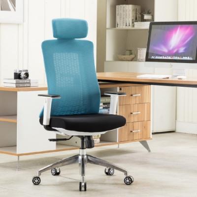 E-home Evolution高背半網人體工學電腦椅 藍色