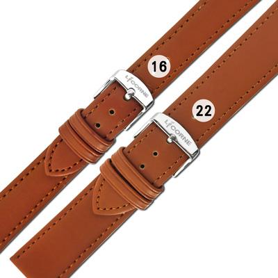 LICORNE 力抗 各品牌通用 百搭款 柔軟舒適 原廠真皮錶帶 咖啡色