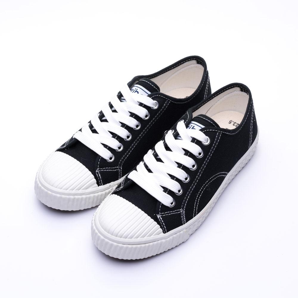 ARRIBA艾樂跑女鞋-綁帶餅乾鞋 帆布鞋-黑/白(AB8068) product image 1