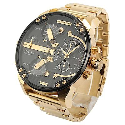 DIESEL Mr.Daddy 2.0黑色錶盤男仕腕錶(DZ7333)57mm