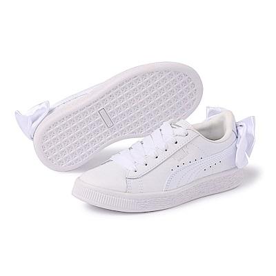 PUMA-BasketBowACPS孩童鞋-白色