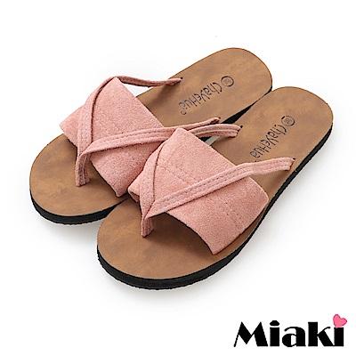 Miaki-拖鞋休閒輕便韓風涼拖-粉色