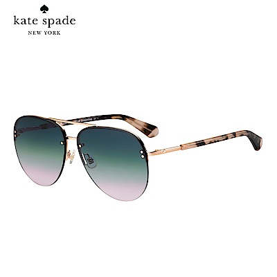 Kate Spade JAKAYLA/S-飛行員太陽眼鏡 粉玳瑁鏡臂