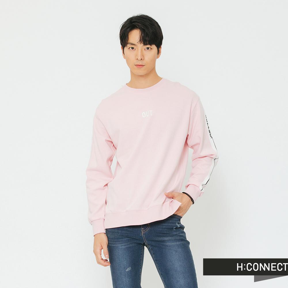 H:CONNECT 韓國品牌 男裝-衣袖織帶造型上衣-粉
