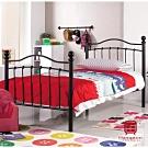 漢妮Hampton羅倫系列3.5尺黑色鐵床床架-115*200*112 cm
