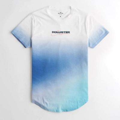 Hollister HCO 短袖 T恤 藍白漸層色  1407