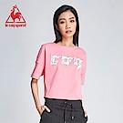 le coq sportif 法國公雞牌COQ系列閃電印花短袖T恤 女-桃紅