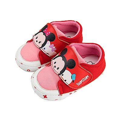 迪士尼童鞋 TsumTsum 米奇米妮 手工學步鞋-紅