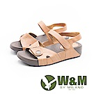 W&M 厚底氣墊魔鬼氈涼鞋 女鞋-橘(另有藍)