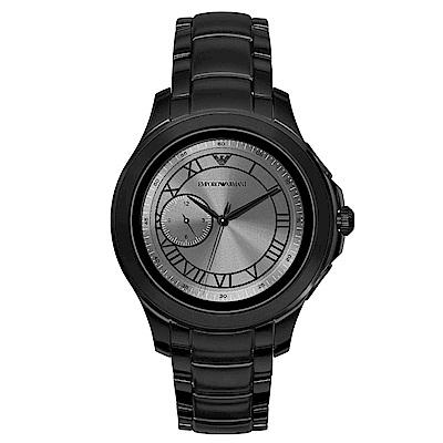 Emporio Armani CONNECTED觸控式智能連線手錶-黑/46mm