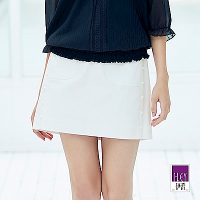 ILEY伊蕾 經典素面A字短裙(黑/白)