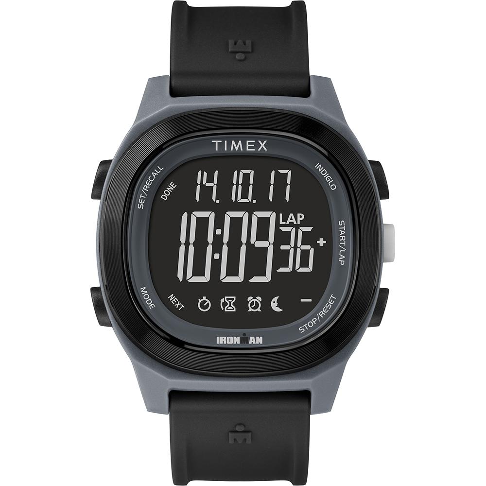 TIMEX 天美時 鐵人系列 多功能電子錶-黑/40mm
