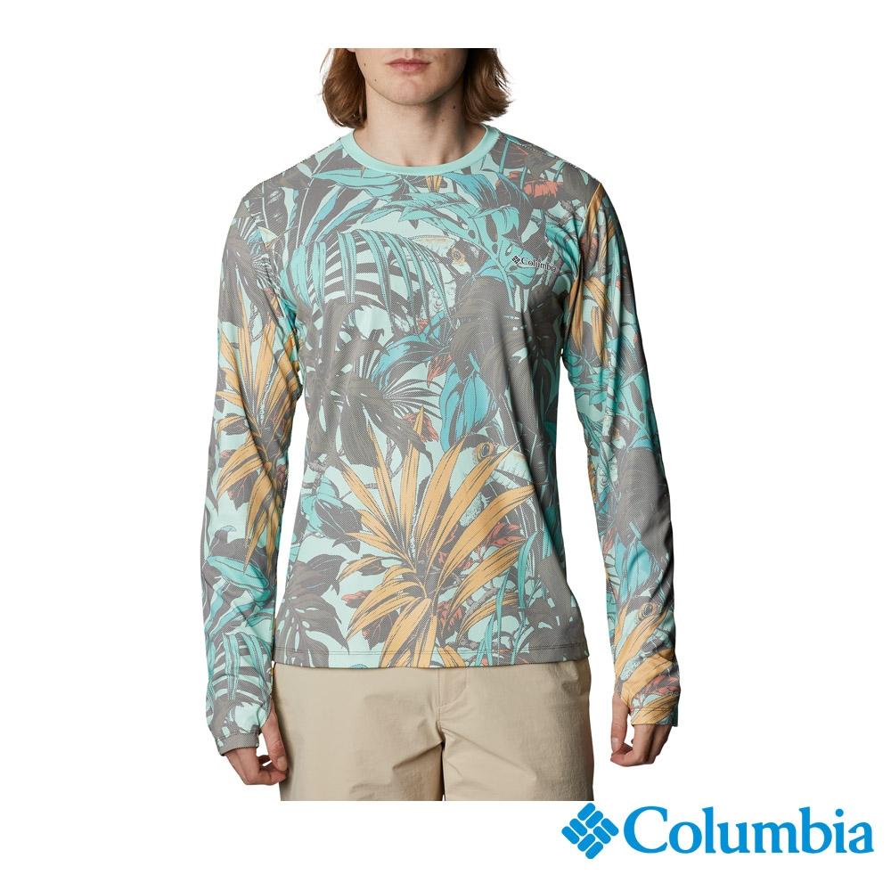 Columbia 哥倫比亞 男款- UPF50抗曬快排長袖上衣-印花 UAE07580FW