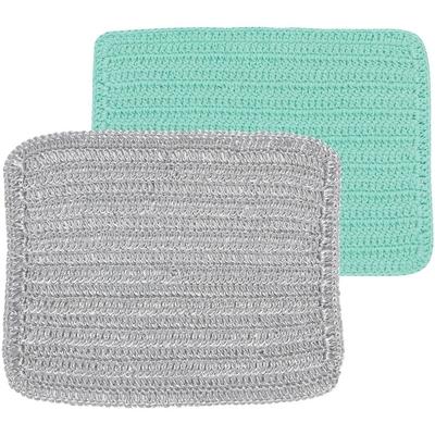 《NOW》編織洗碗布2件(綠銀)