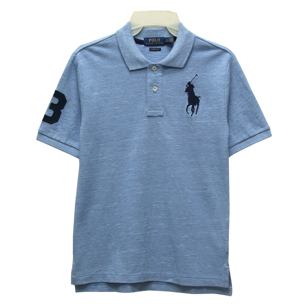 Ralph Lauren CLASSIC FIT 大童大馬短袖POLO衫-藍色