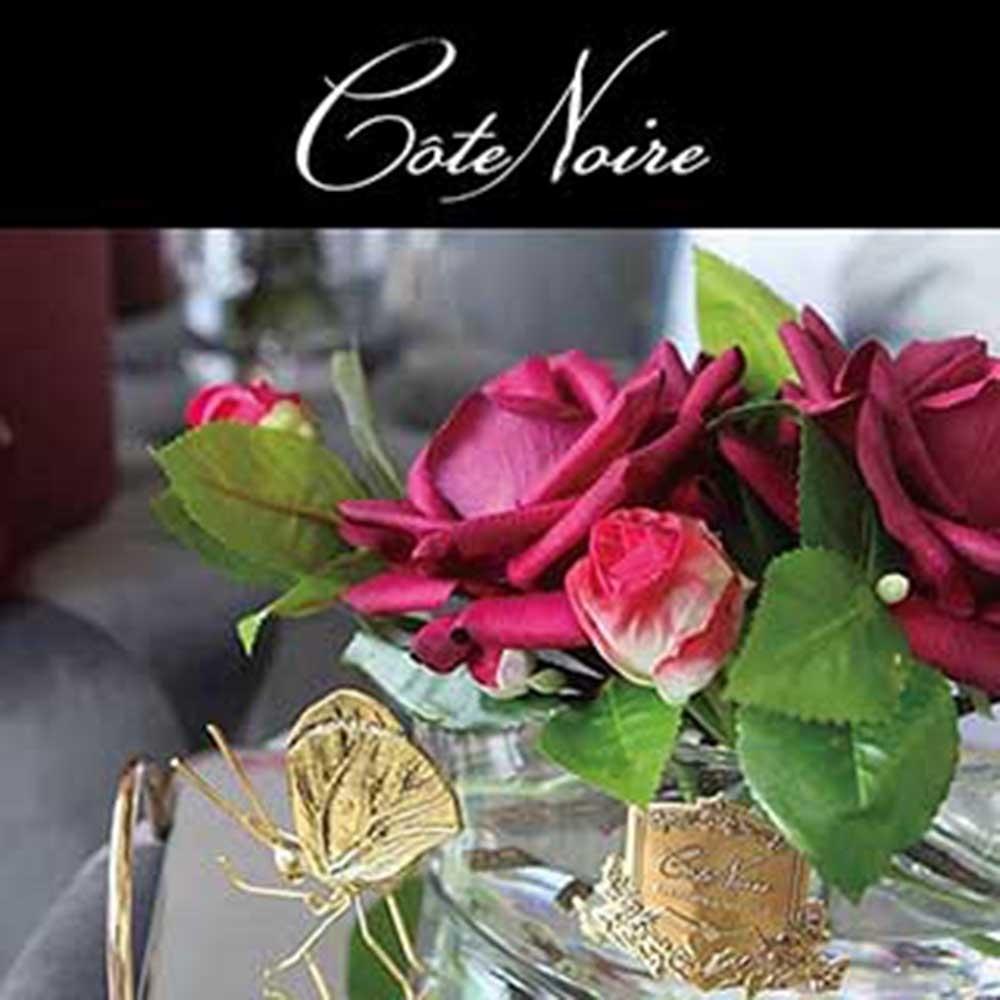 法國 Cote Noire 蔻特蘭 玫瑰香氛花〔橢圓瓶-大〕