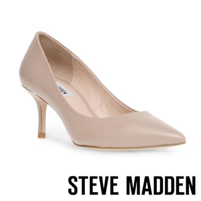 STEVE MADDEN-KITKAT 魅力簡約素面尖頭高跟鞋-粉紅色