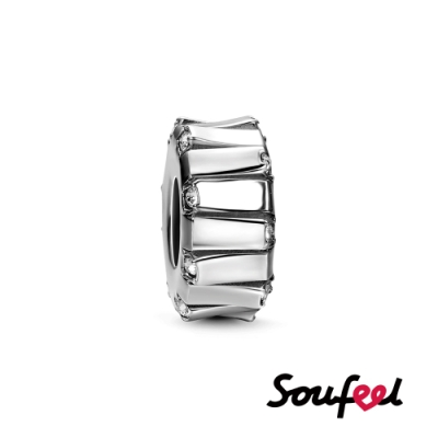 SOUFEEL索菲爾 925純銀珠飾  琴鍵 定位珠