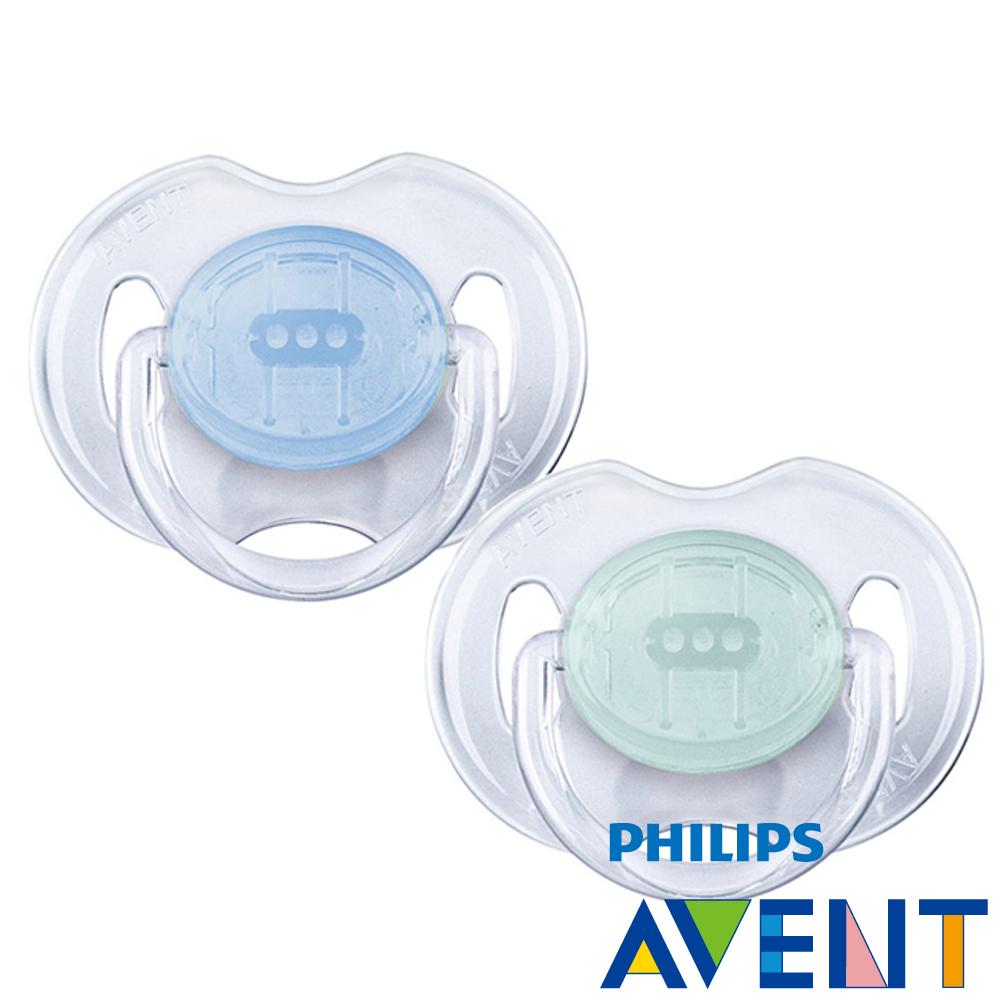PHILIPS  AVENT矽膠安撫奶嘴0~6M+水晶系列(雙入)